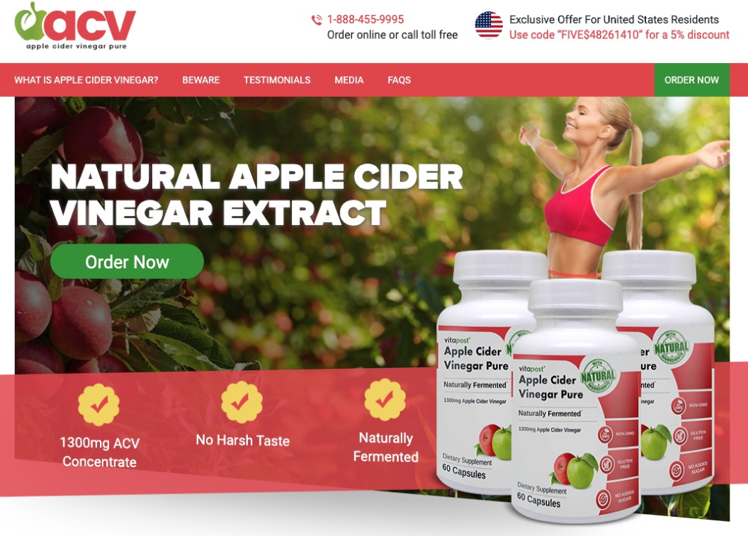 Apple Cider Vinegar Pure in Canada
